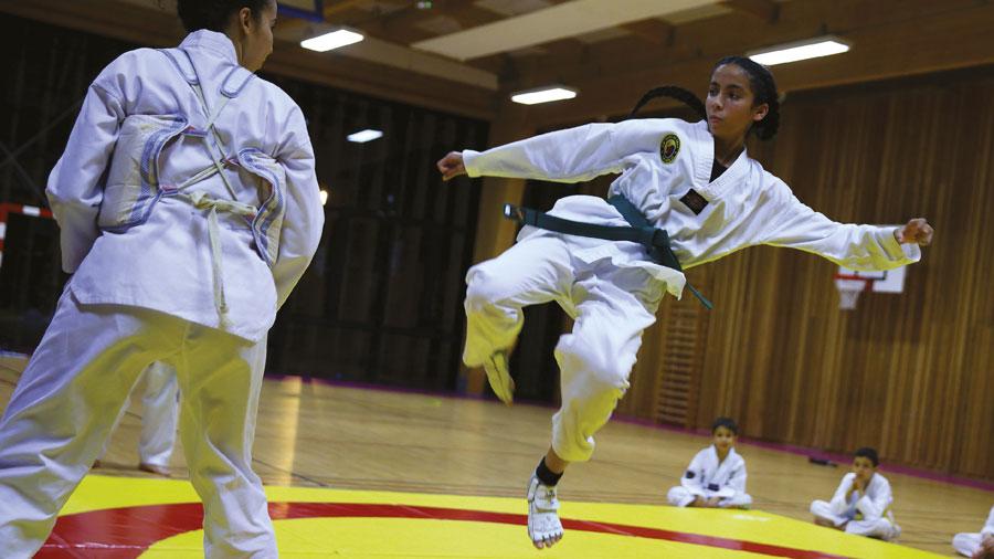Photo de l'activité sportive taekwondo à l'US Ivry Omnisports