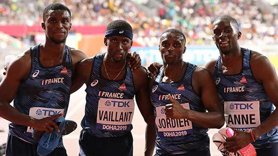 Photo de l'équipe de france d'athlétisme 4x400m